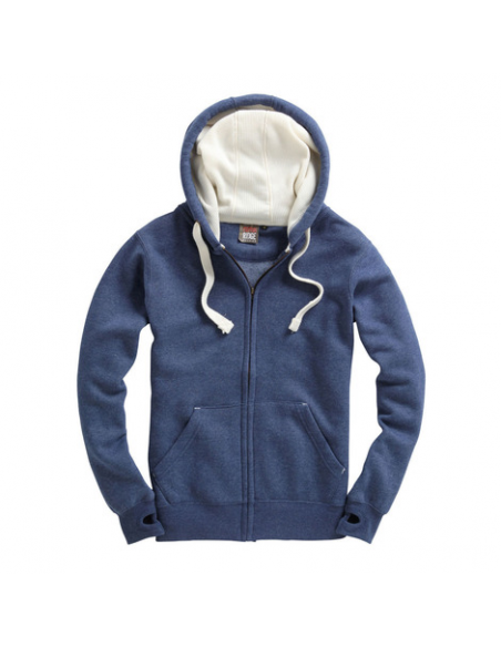 Blue Navy melange/White