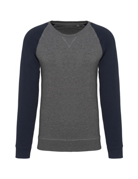 Grey heather/ Blue Navy